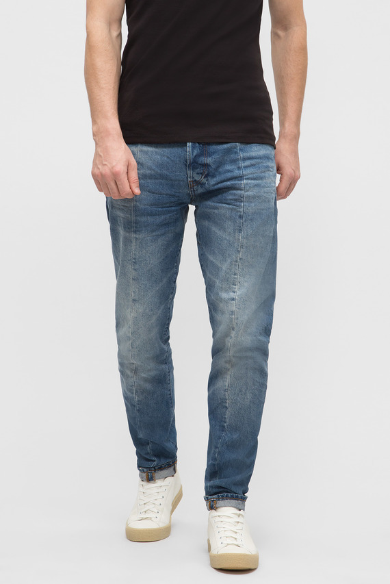 Мужские синие джинсы Lanc 3D Tapered