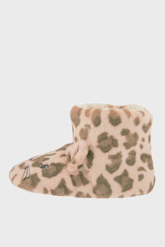 Детские леопардовые домашние тапочки LEONA SLIPPER BOOTS