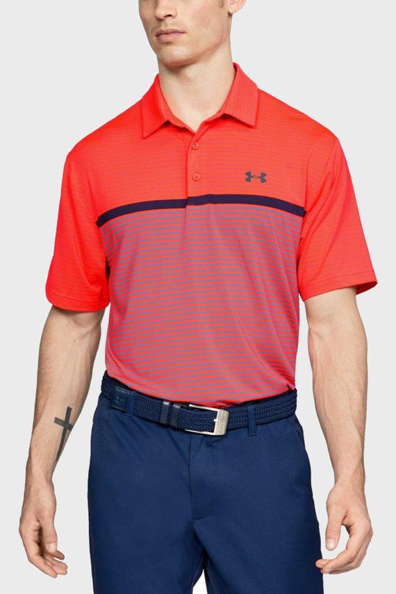 Мужское красное поло UA Playoff Polo