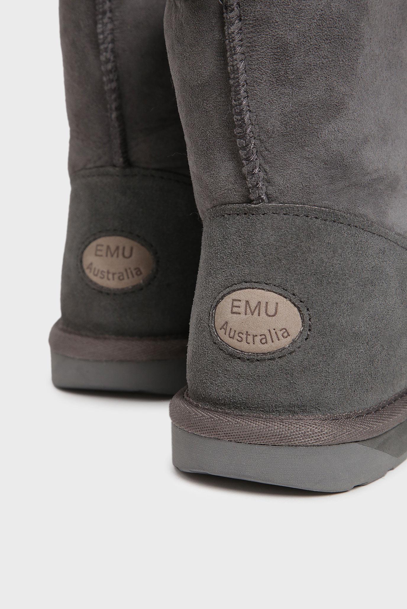 Женские серые замшевые угги EMU Australia