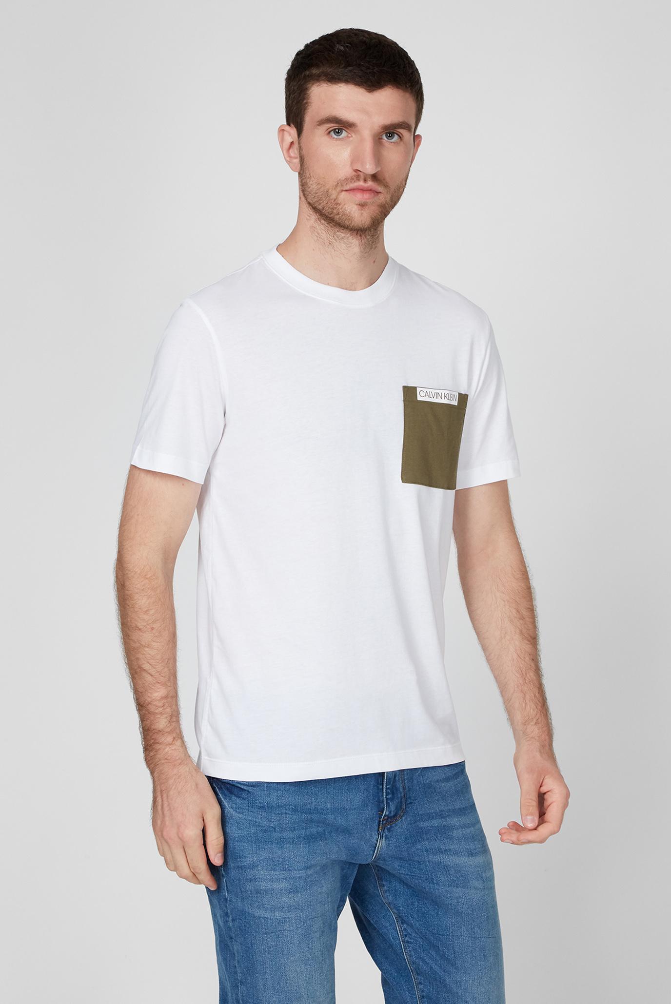 Мужская белая футболка CONTRAST POCKET Calvin Klein