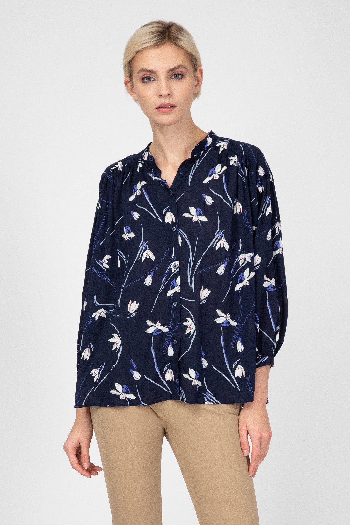 Купить Женская синяя блуза с принтом Gant Gant 4311052 – Киев, Украина. Цены в интернет магазине MD Fashion
