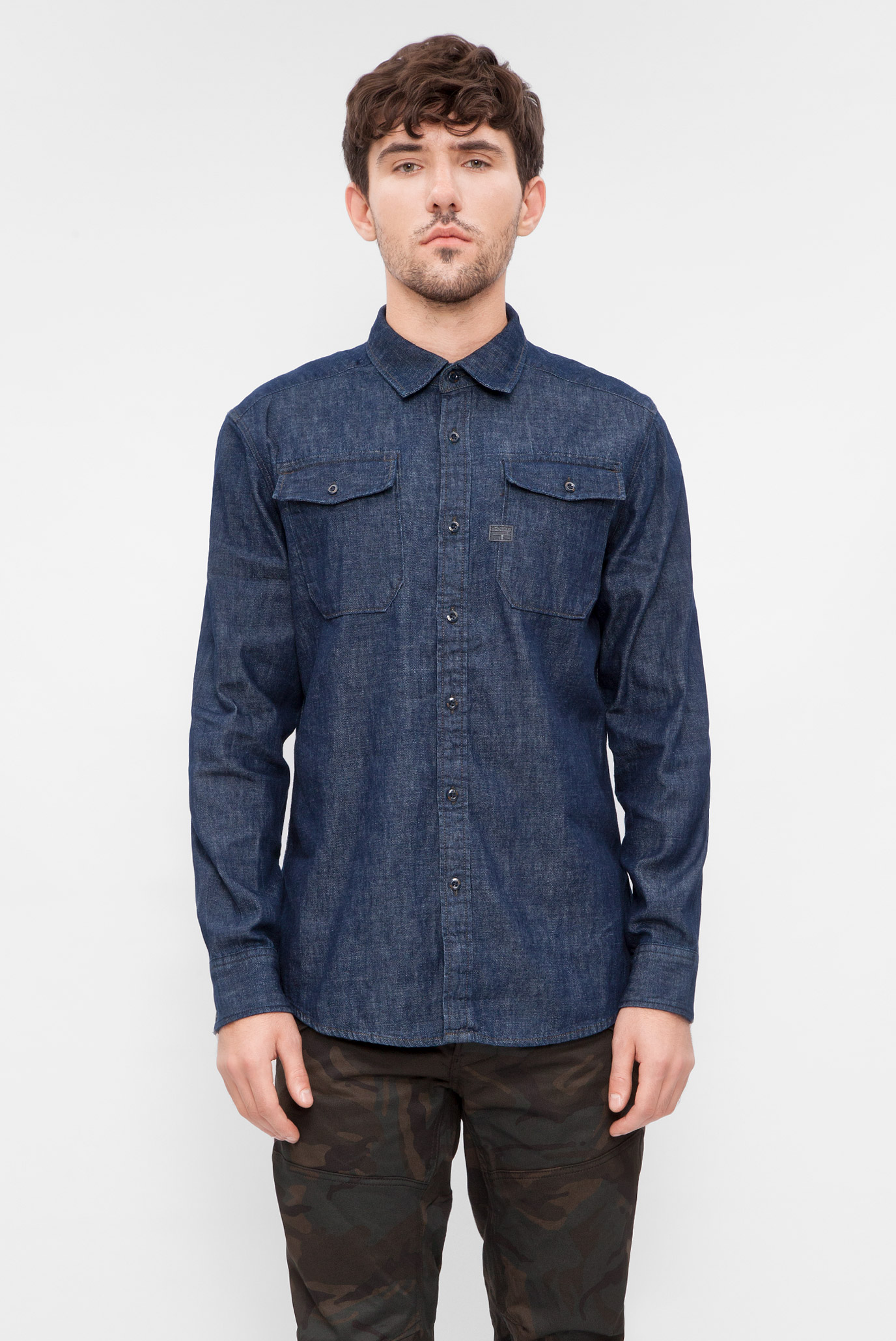 f1039dd7d1b Купить Мужская темно-синяя джинсовая рубашка G-Star RAW G-Star RAW  D04624
