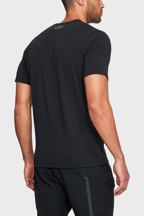 Мужская черная футболка UA Phase Left Chest SS