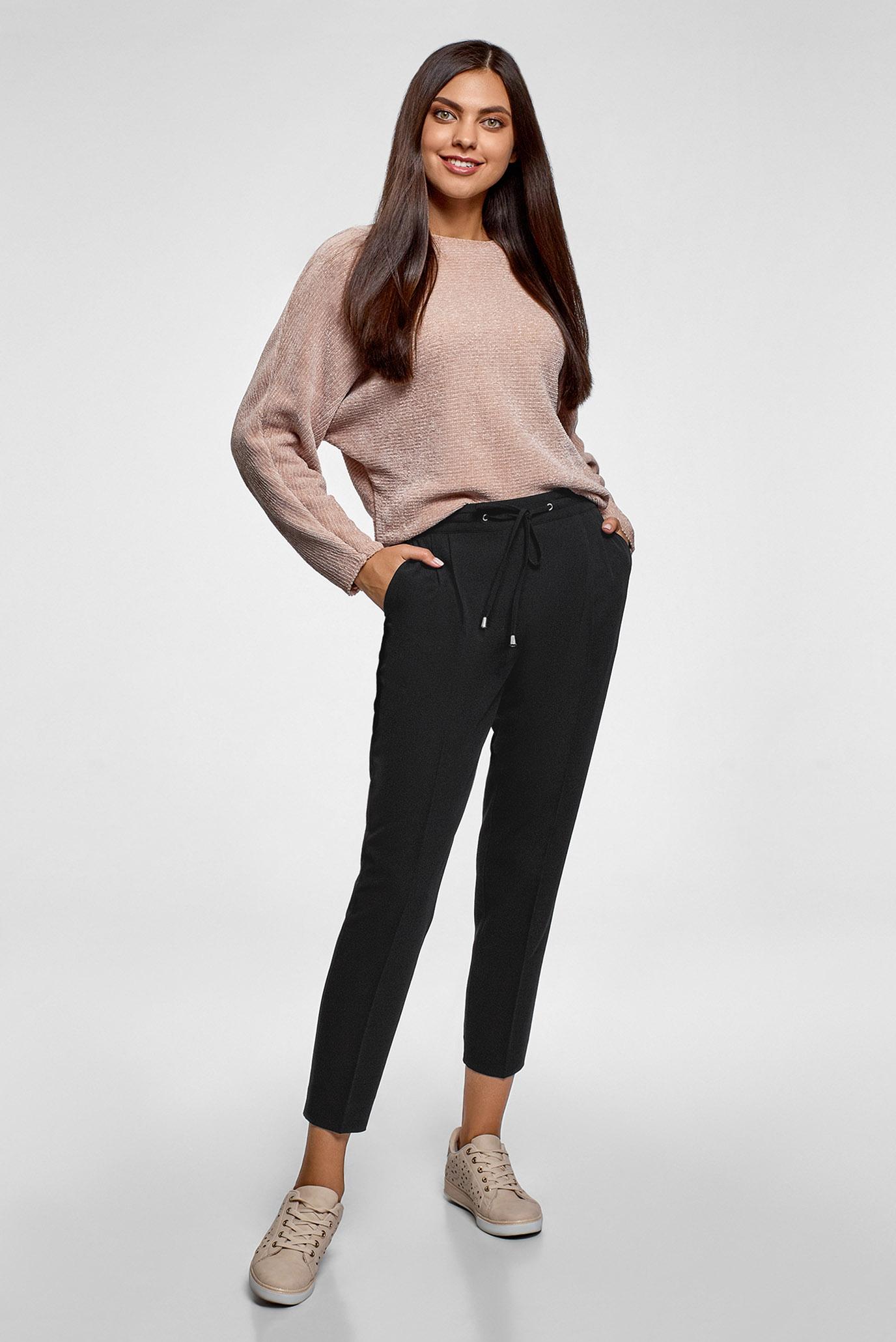 Женские черные брюки Oodji