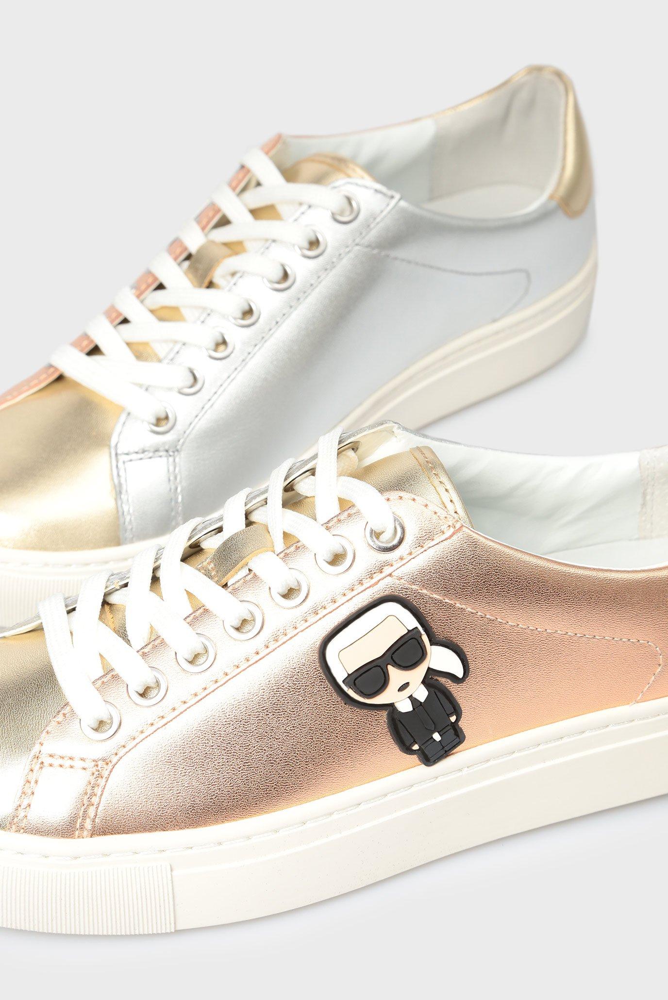 Купить Женские золотистые кожаные сникеры Karl Lagerfeld Karl Lagerfeld KL61033 – Киев, Украина. Цены в интернет магазине MD Fashion