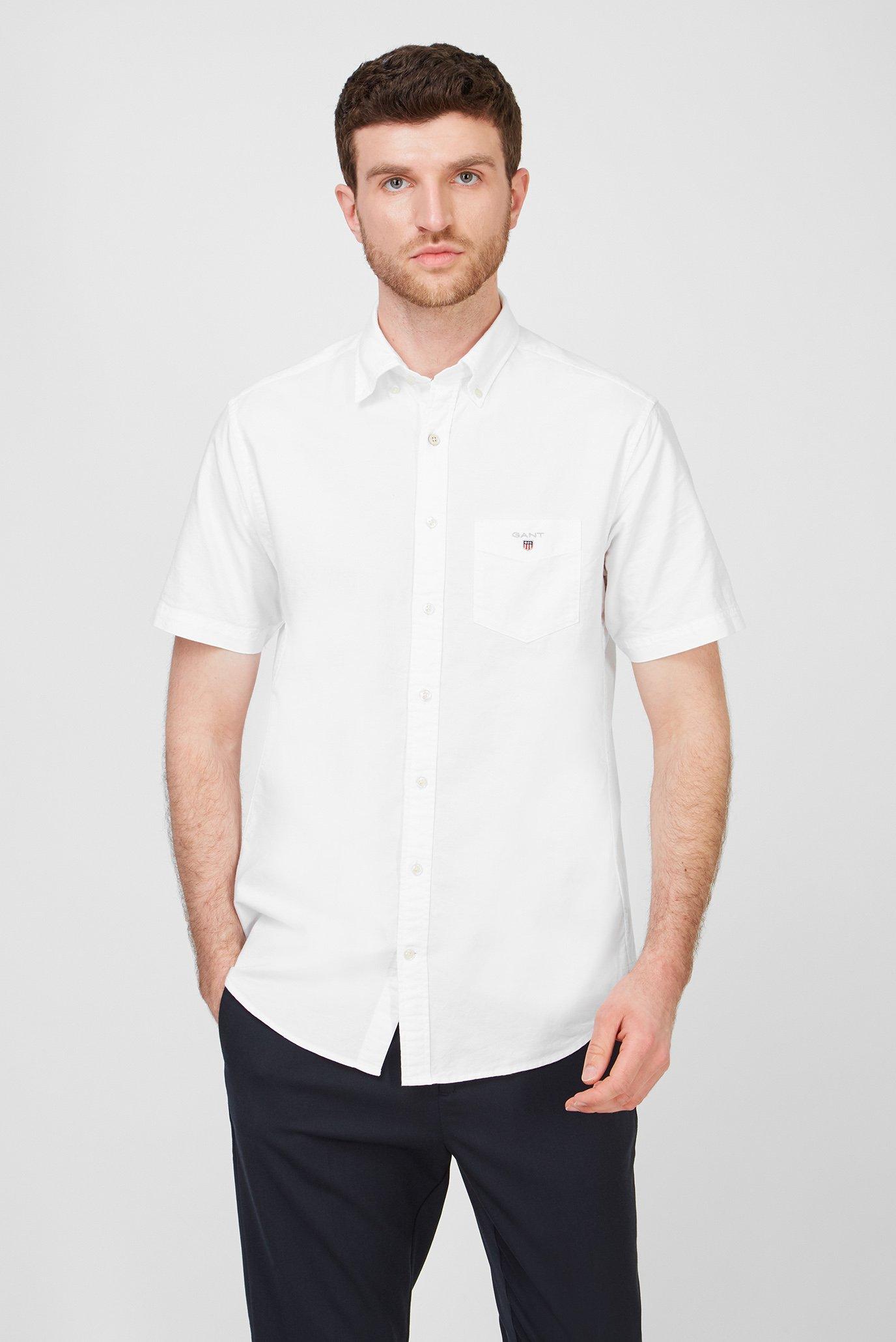 Мужская белая рубашка REG OXFORD 1