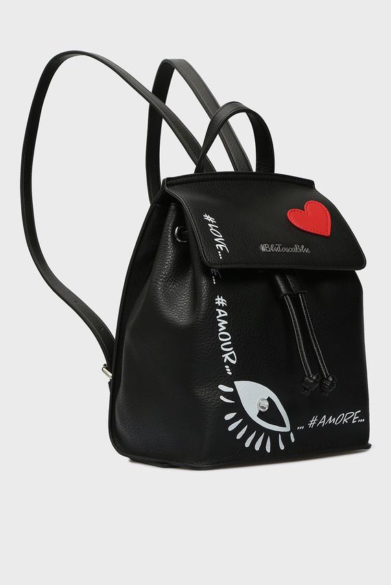 Женский черный рюкзак LOVE-LIVE