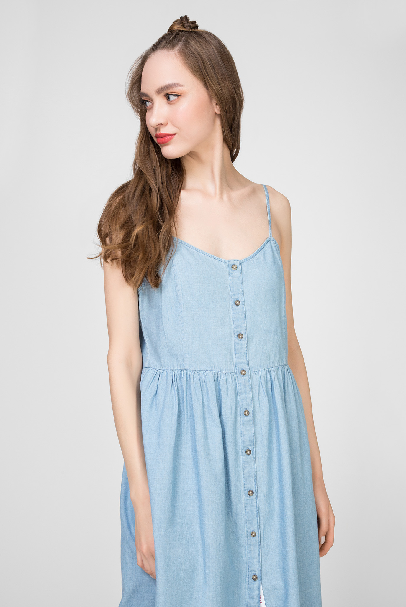 Женское голубое платье TJW CHAMBRAY Tommy Jeans