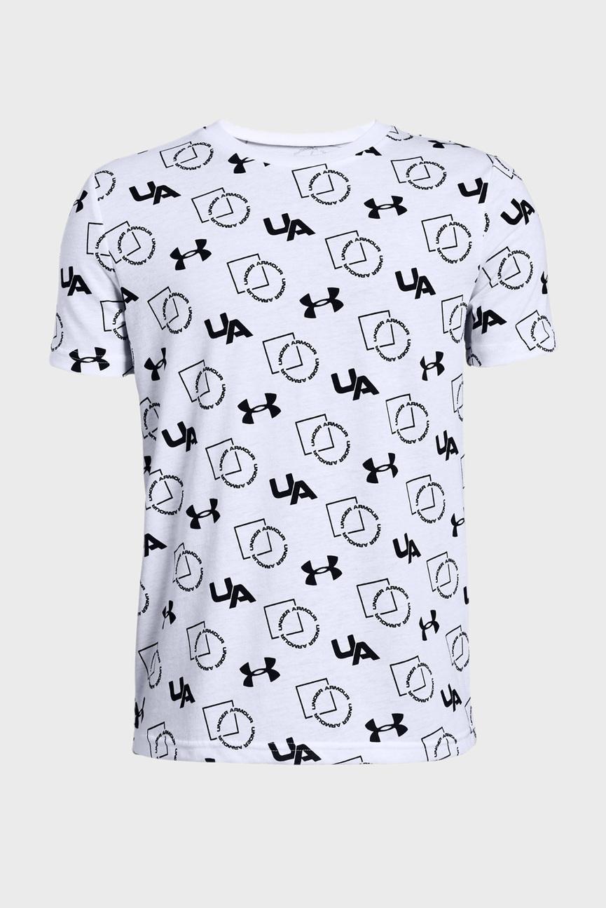 Детская белая футболка с принтом Sportstyle Print SS