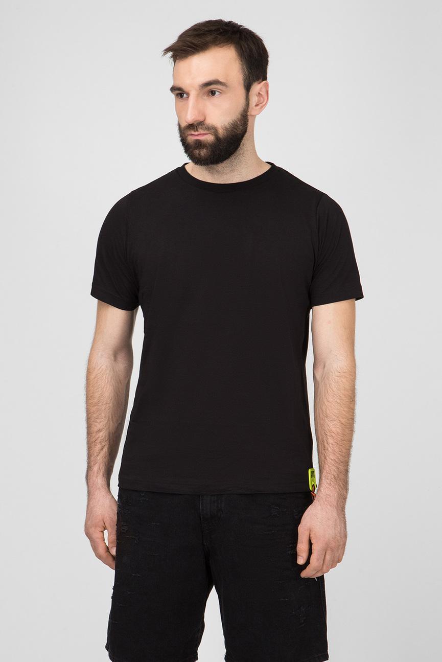 Мужская черная футболка T-JUST-Y-TRIMS