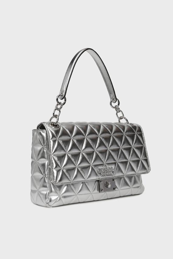 Женская серебристая сумка на плечо LAIKEN SHOULDER