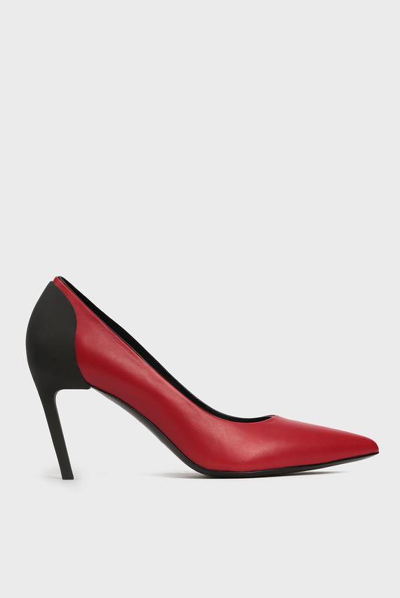 Женские красные кожаные лодочки SLANTY