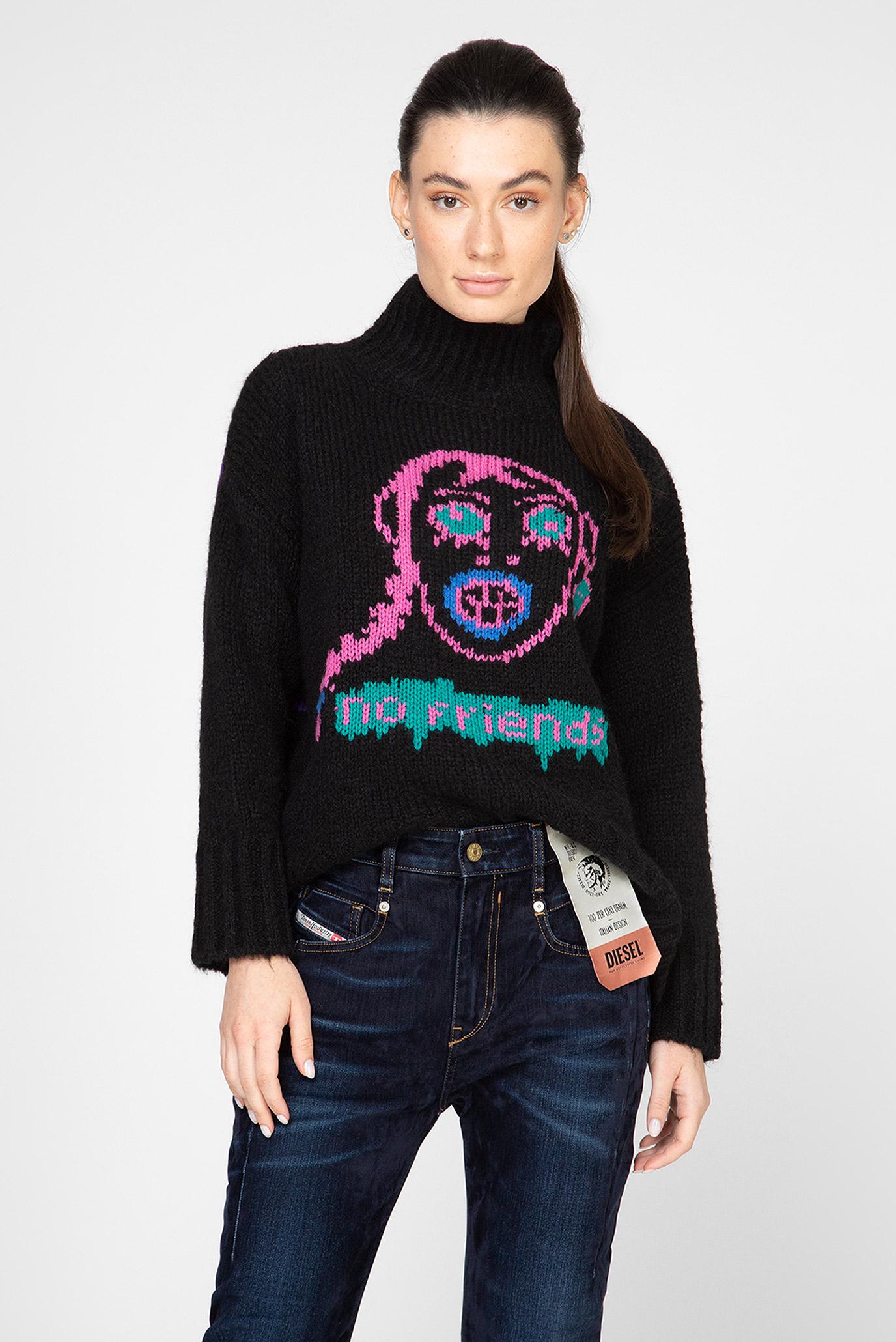 Женский черный свитер M-CARA 1