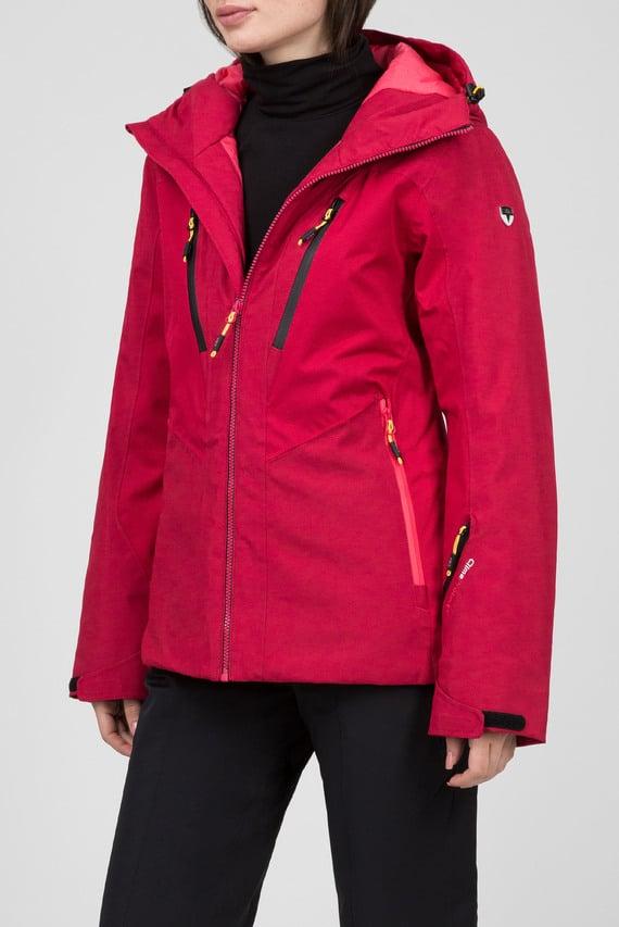 Женская малиновая лыжная куртка