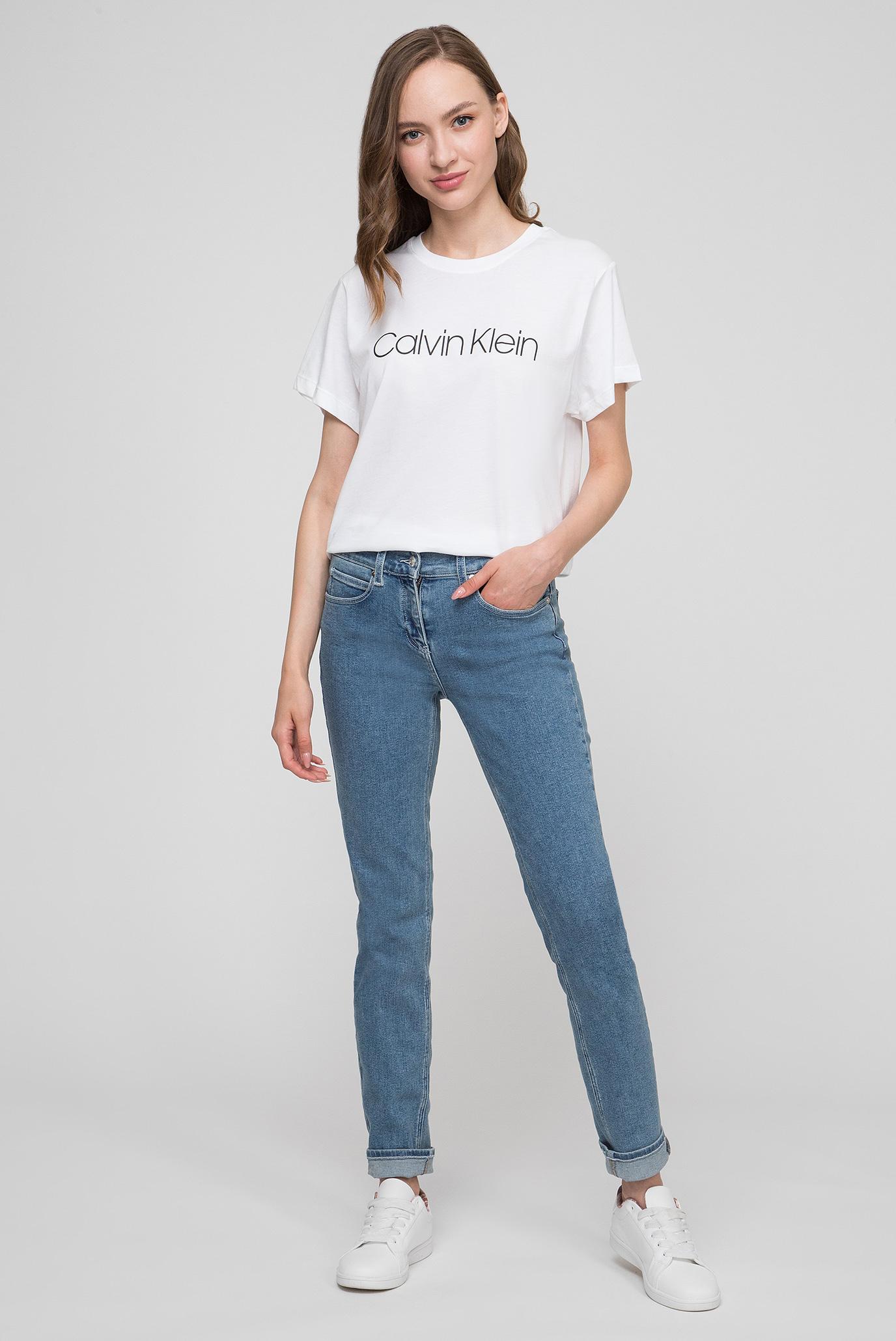 b27264dfcf434 Купить Женская белая футболка LOGO PRT T-SHIRT SS Calvin Klein Calvin Klein  K20K200459 – Киев, Украина. Цены в интернет ...