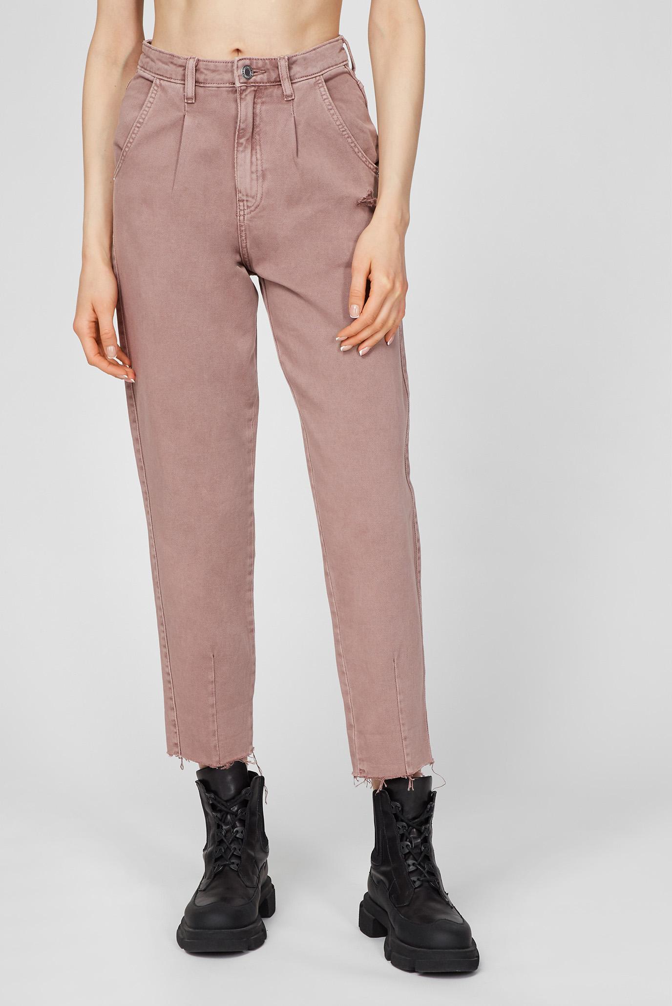 Женские пудровые джинсы 1