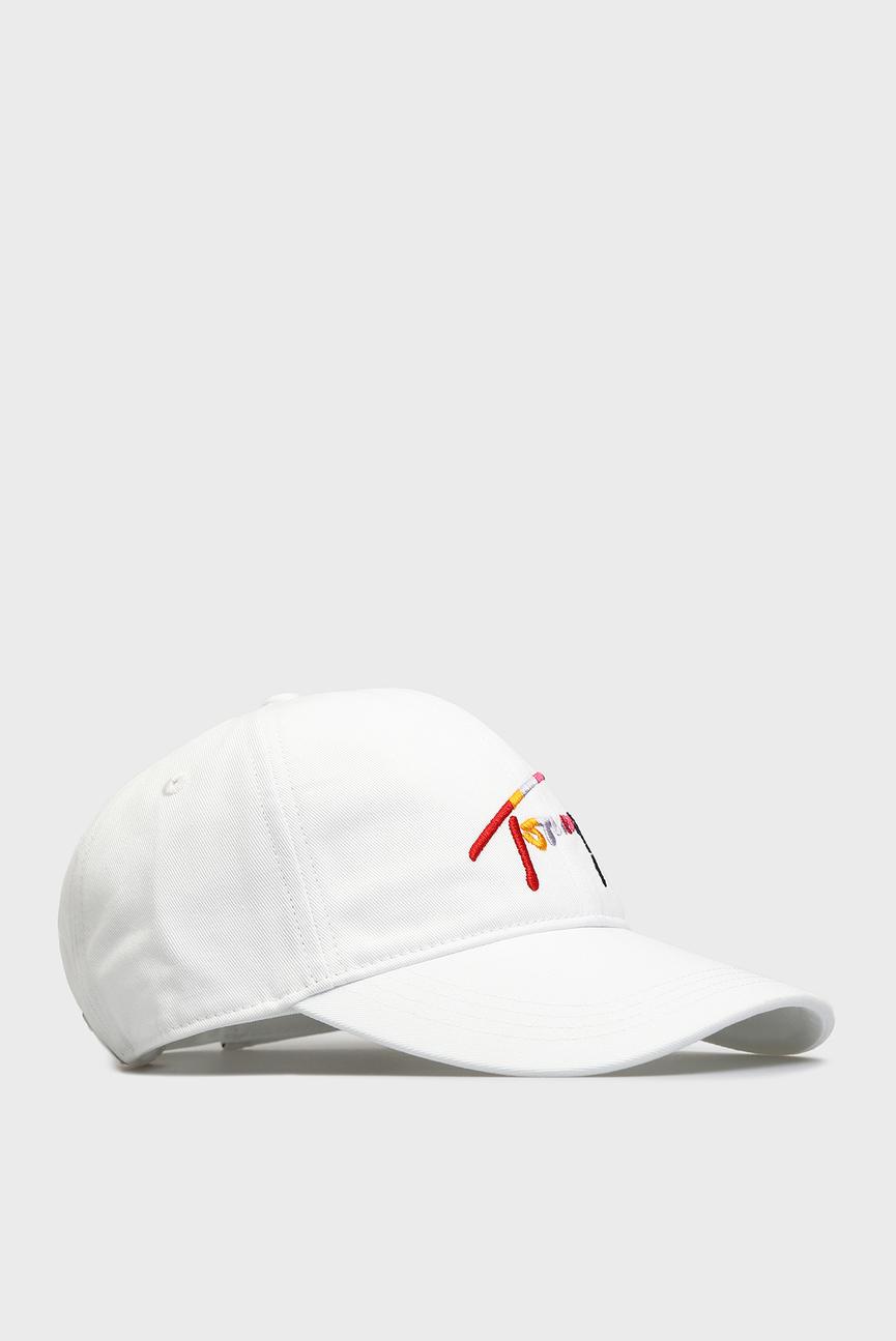 Женская белая кепка TJW