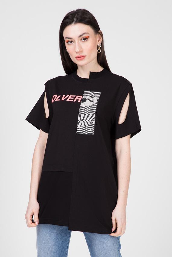 Женская черная футболка T-GOMEZ