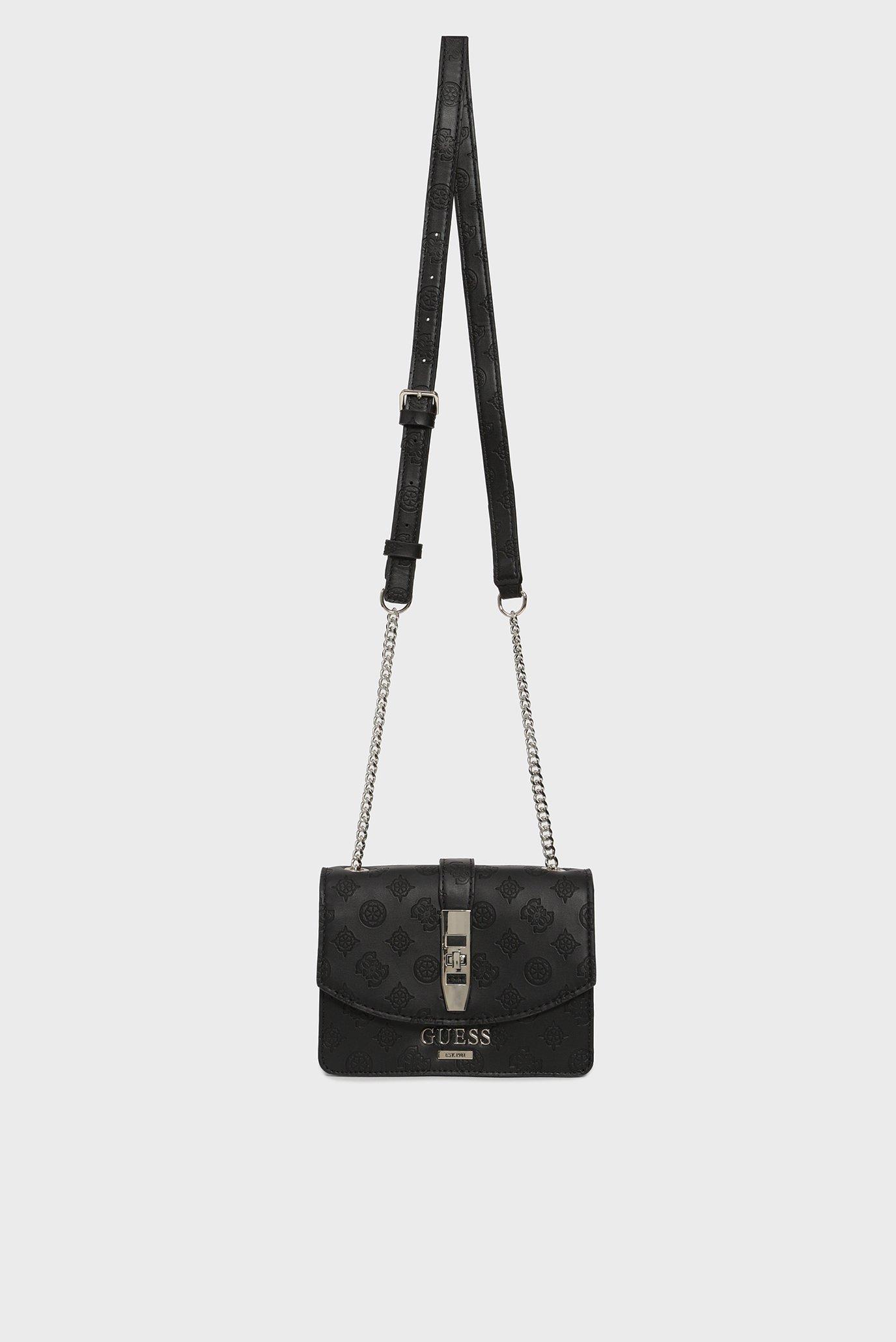 Женская черная сумка через плечо PEONY CLASSIC MINI Guess