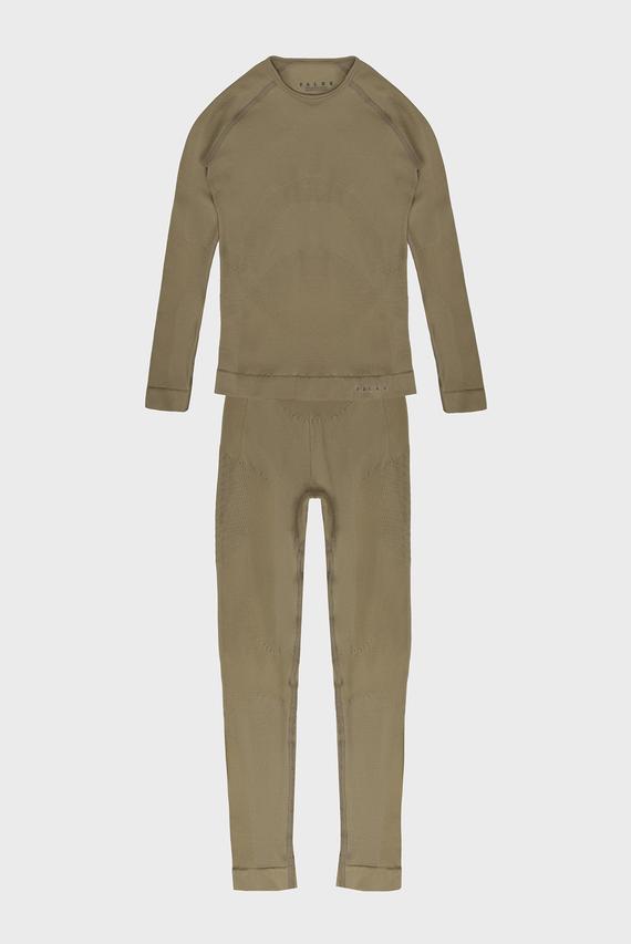Детское оливковое термобелье (лонгслив, брюки) Maximum Warm
