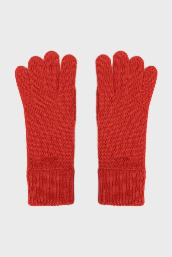 Женские оранжевые перчатки SOLID KNIT