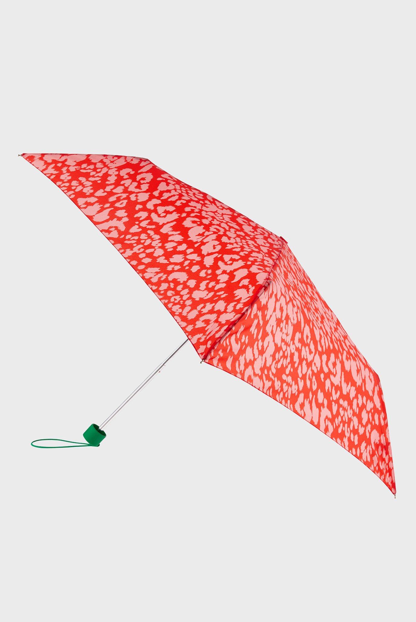 Женский красный зонт COLOURFUL ANIMAL PRINT UMBRELLA 1