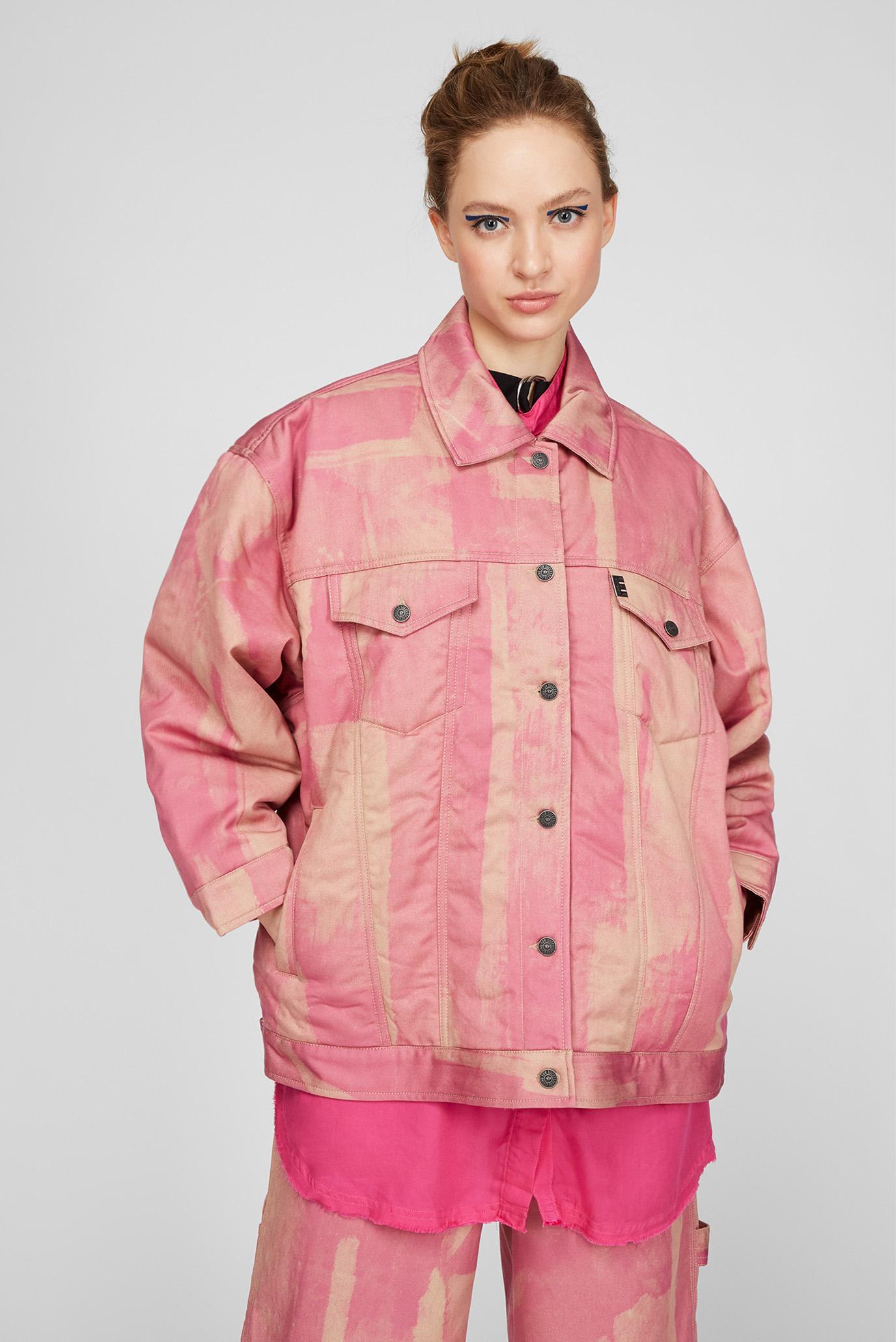 Женская розовая джинсовая куртка G-SOJO 1