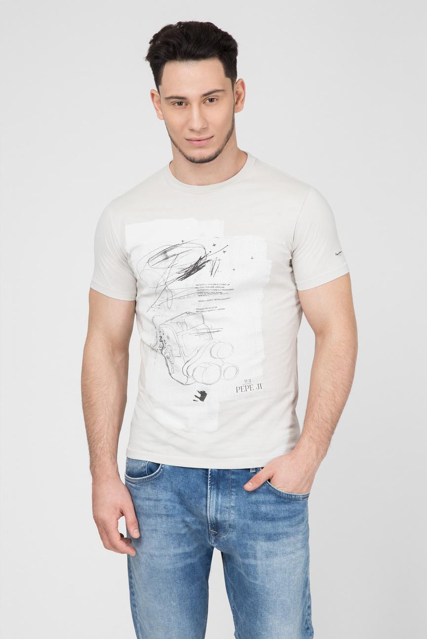 Мужская серая футболка с принтом GENT