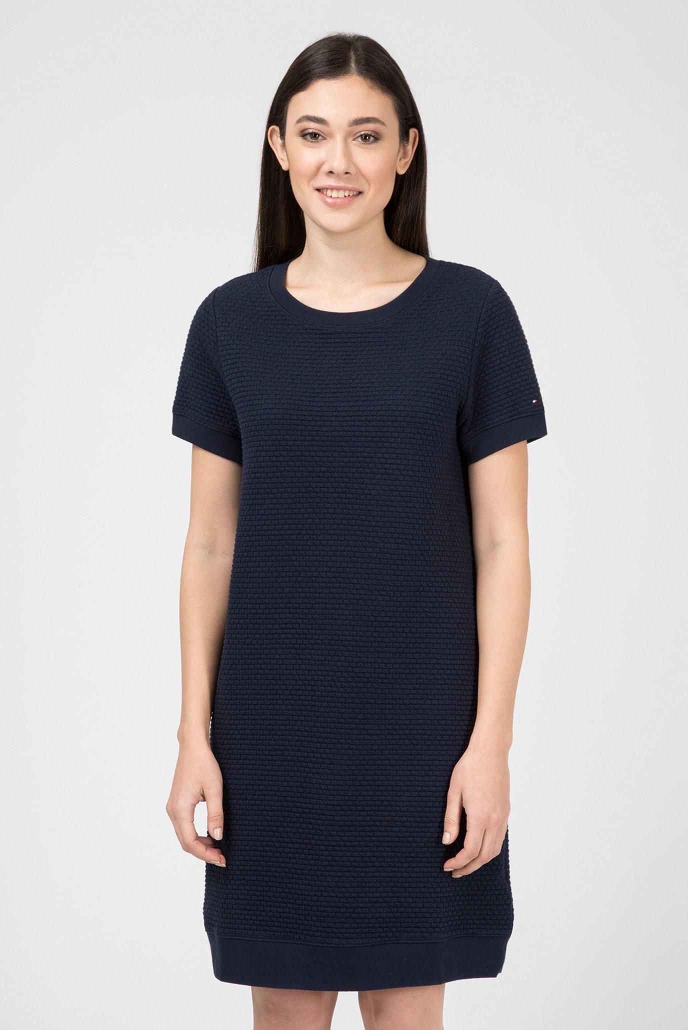 Купить Женское темно-синее платье EVY TEXTURES Tommy Hilfiger Tommy Hilfiger WW0WW22553 – Киев, Украина. Цены в интернет магазине MD Fashion