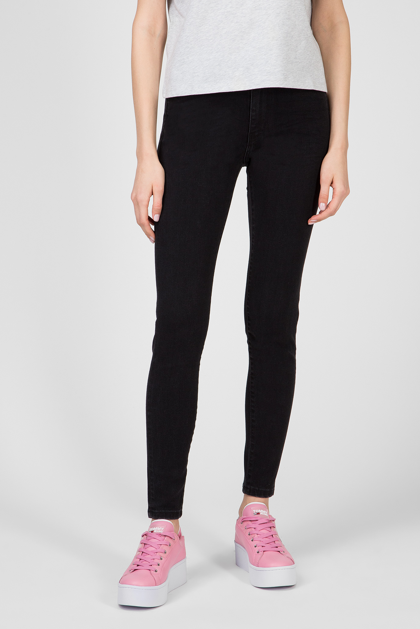Женские черные джинсы TJ 2008 HIGH RISE 1