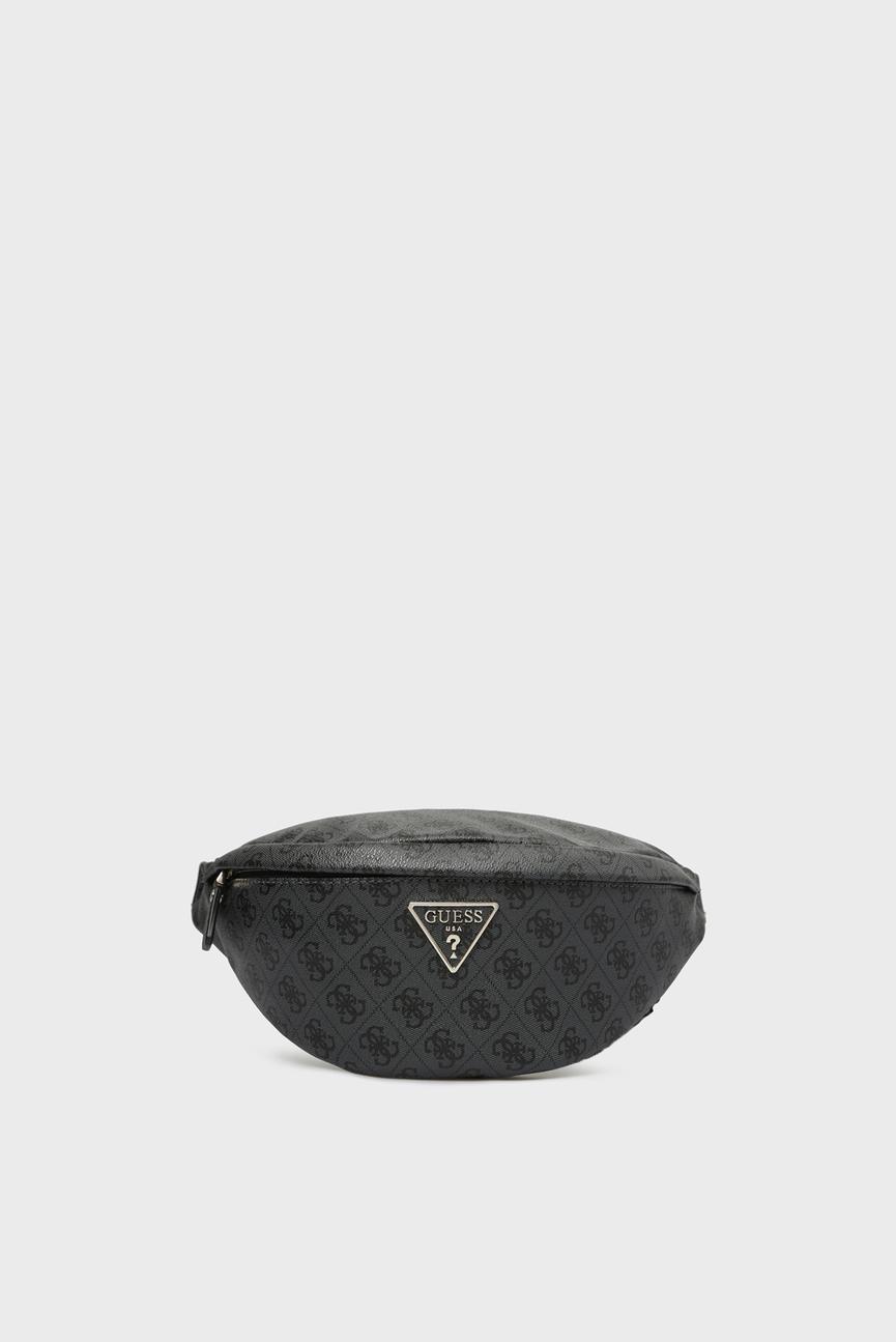 Женская серая поясная сумка LEEZA LARGE