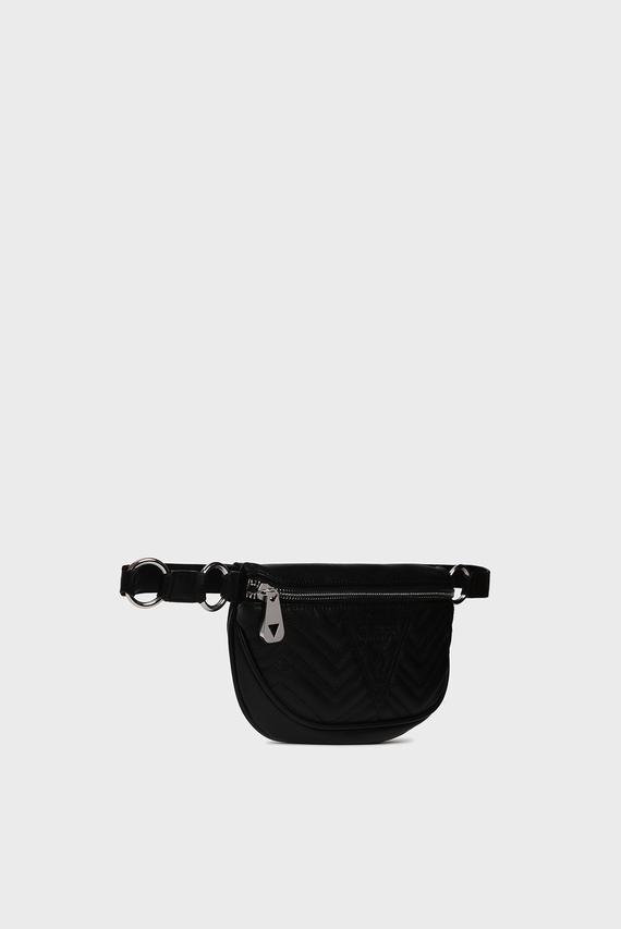 Женская черная поясная сумка ZANA