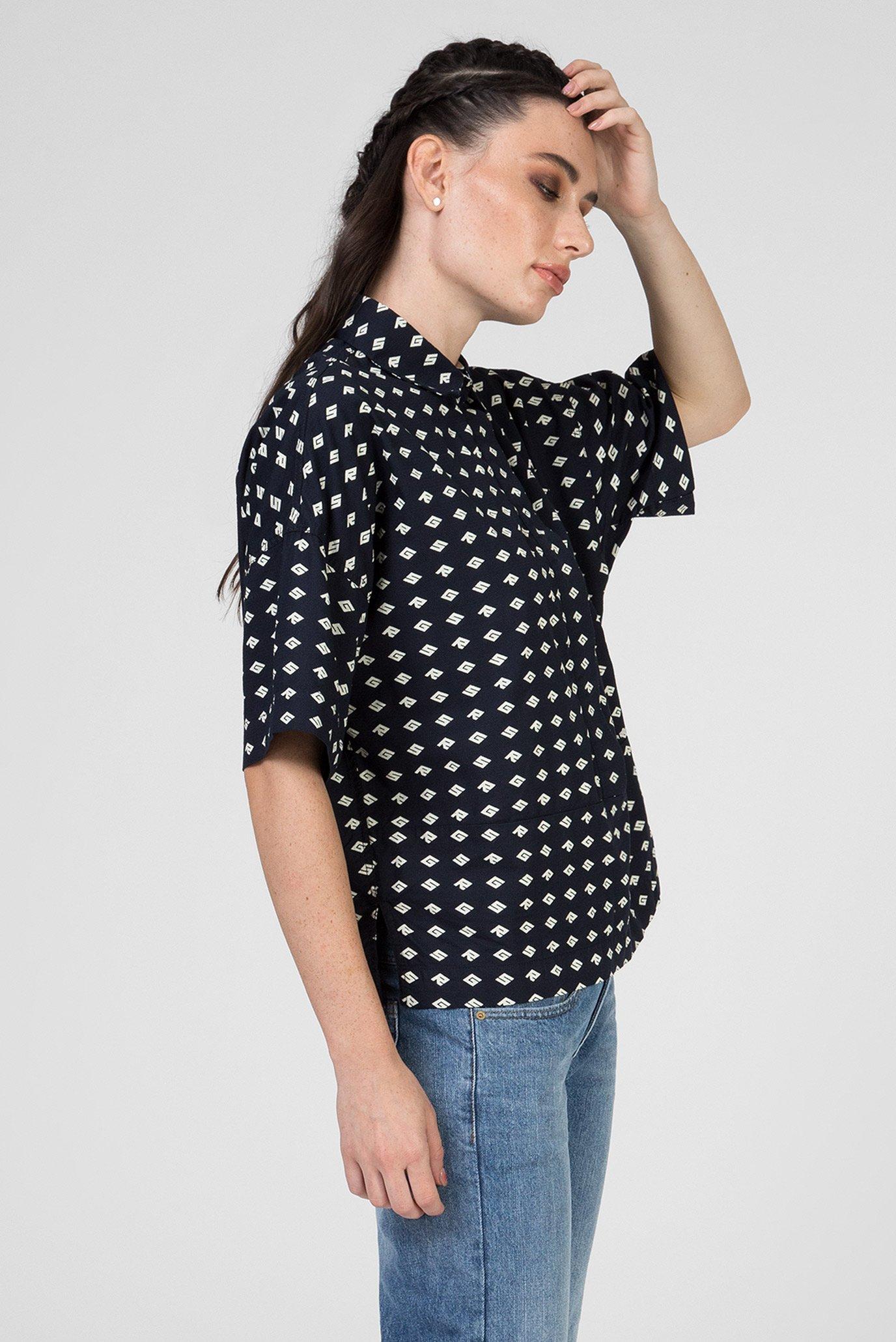 Женская темно-синяя рубашка Core polo wmn s\s G-Star RAW