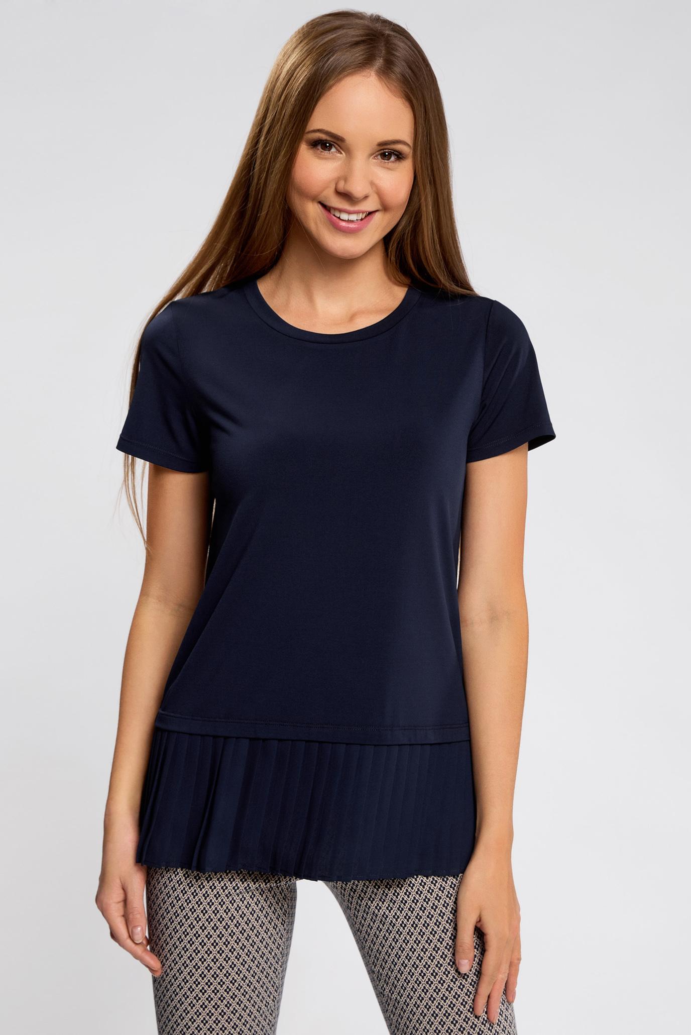Купить Женская темно-синяя блуза Oodji Oodji 14700006/46384/7900N – Киев, Украина. Цены в интернет магазине MD Fashion