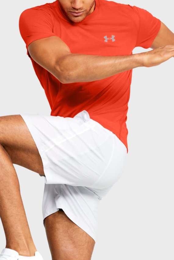 Мужская красная спортивная футболка UA STREAKER 2.0 SHORTSLEEVE