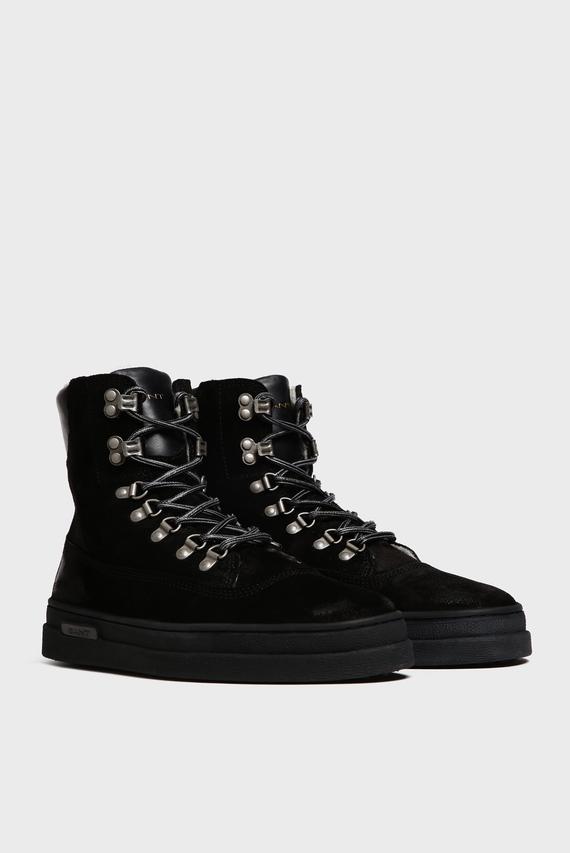 Мужские черные замшевые ботинки CREEK