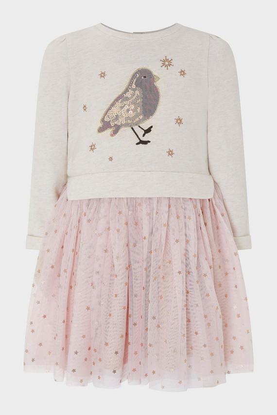 Детское розовое платье BABY RAE ROBIN DISCO