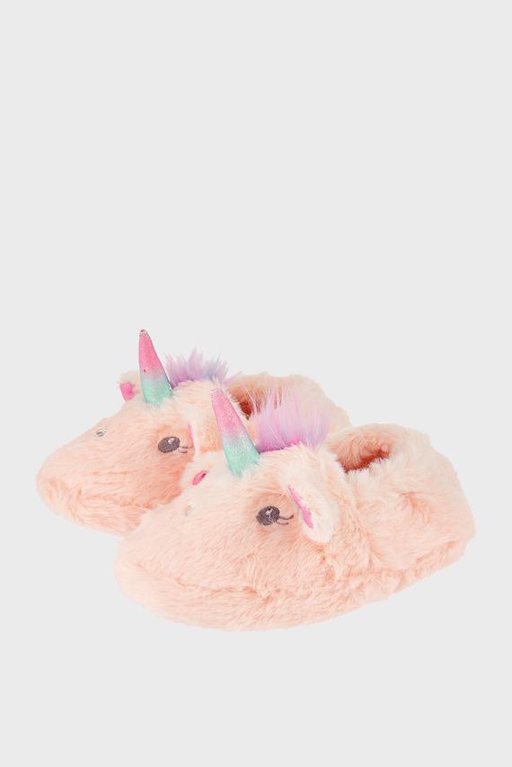 Детские розовые домашние тапочки GLITTER UNICORN SLIP
