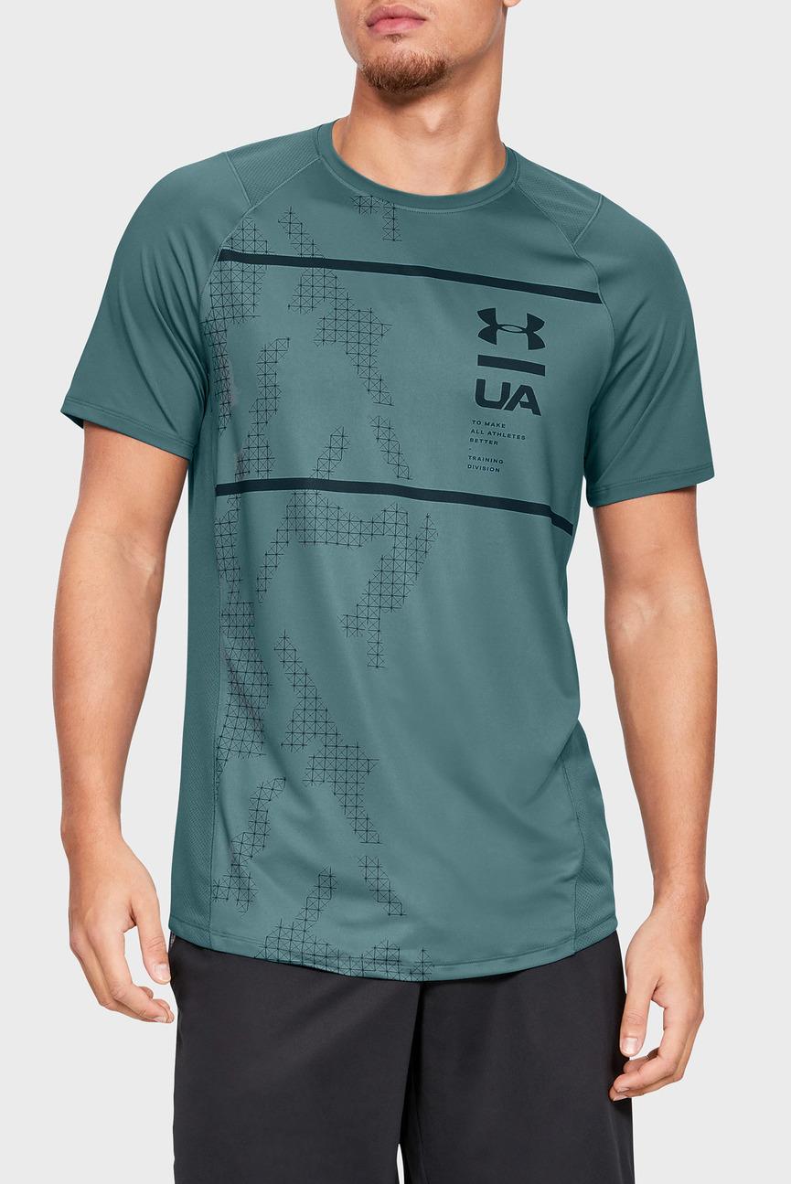Мужская зеленая футболка MK1 SS Q2 Printed