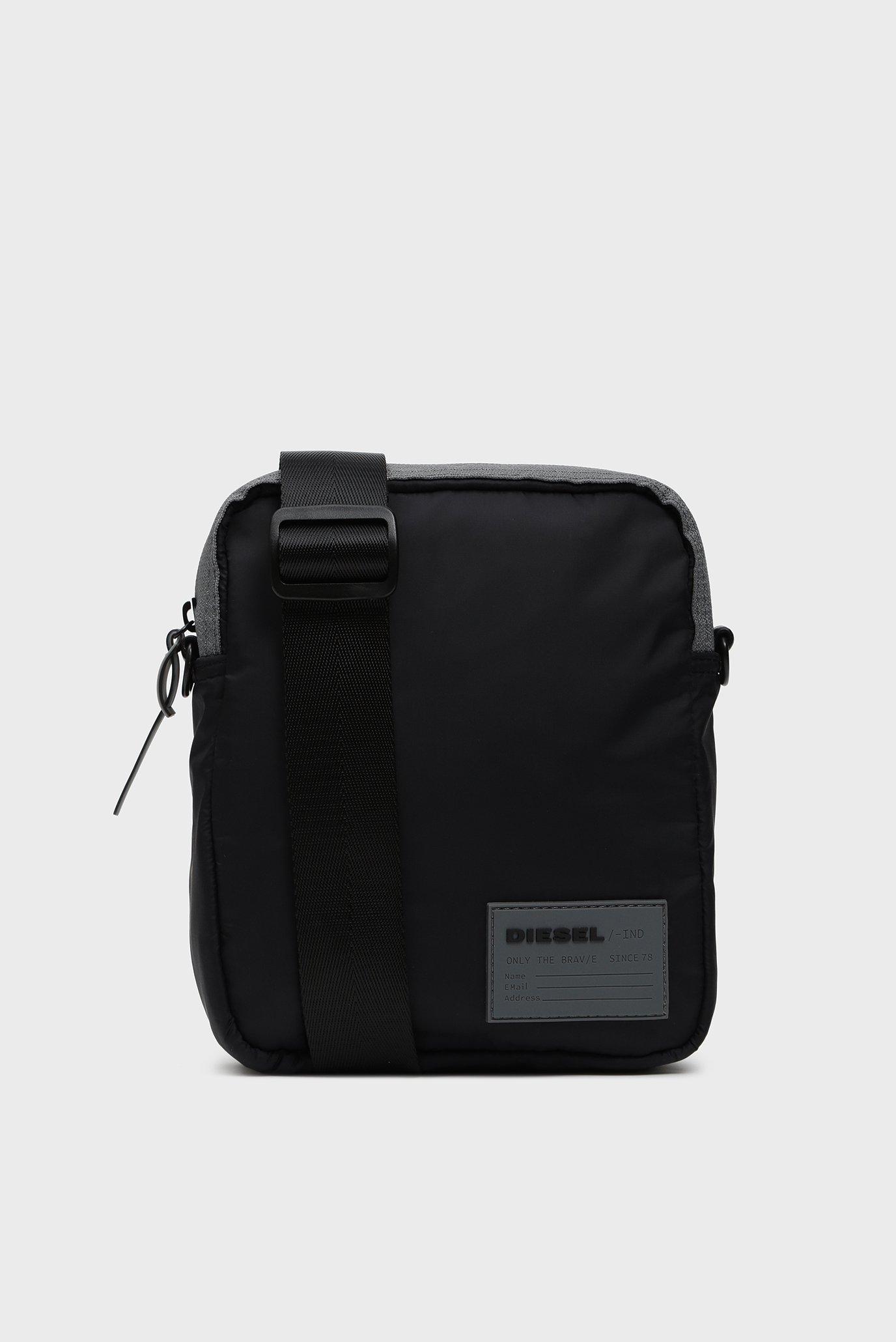 Мужская черная сумка через плечо DISCOVER-ME / ODERZO Diesel