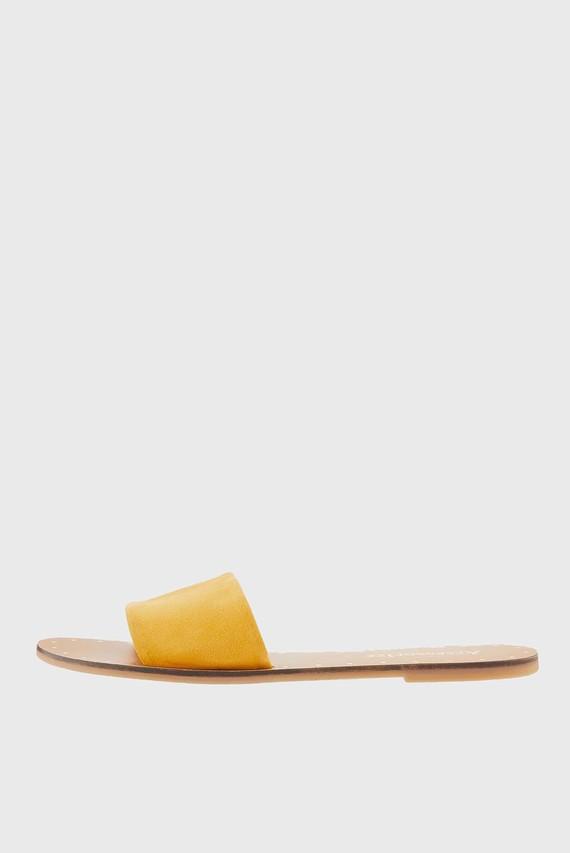 Женские желтые вьетнамки Lisbon Slimline Slid