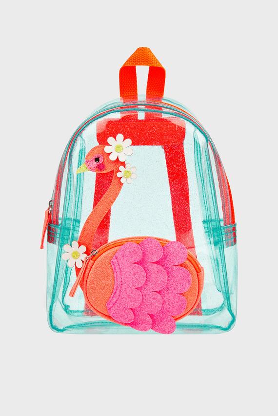Детский прозрачный рюкзак FLORA FLAMINGO JELLY