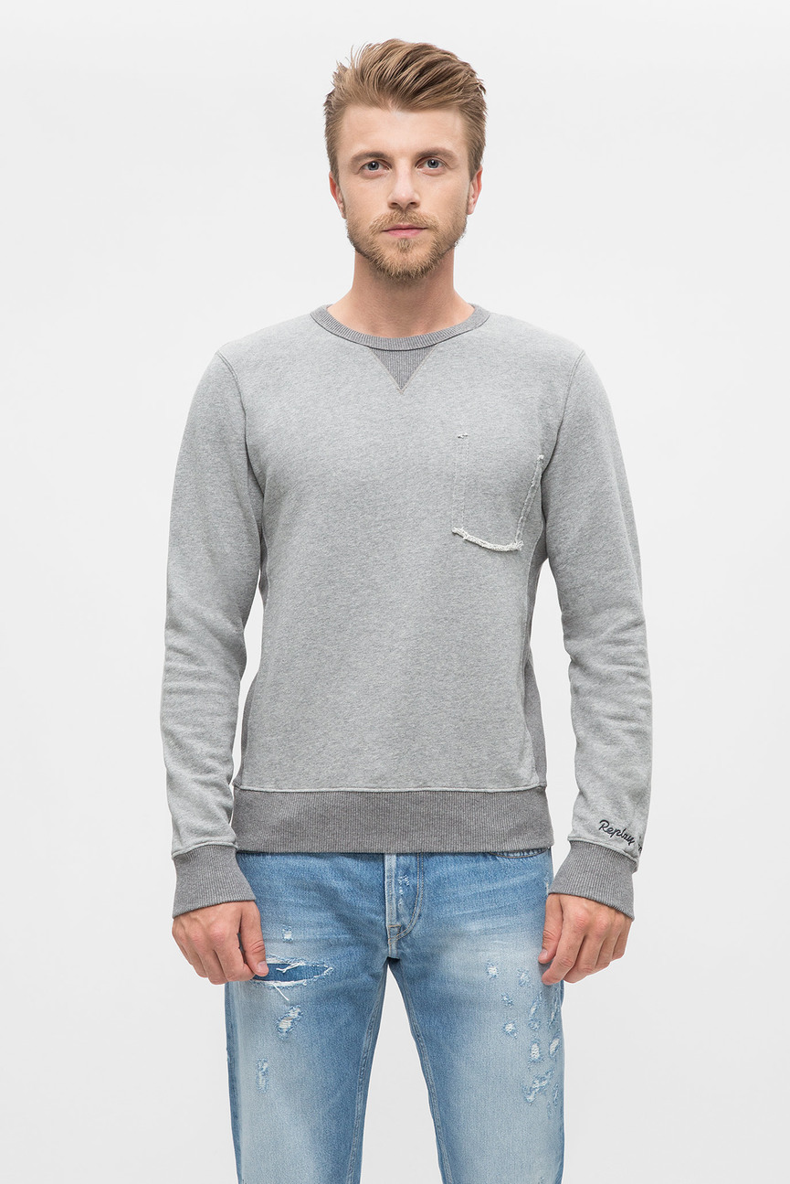 Мужской серый свитшот