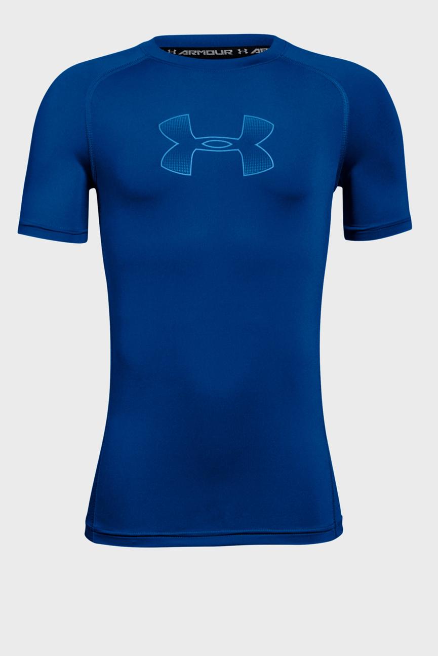 Детская синяя компрессионная футболка Armour SS