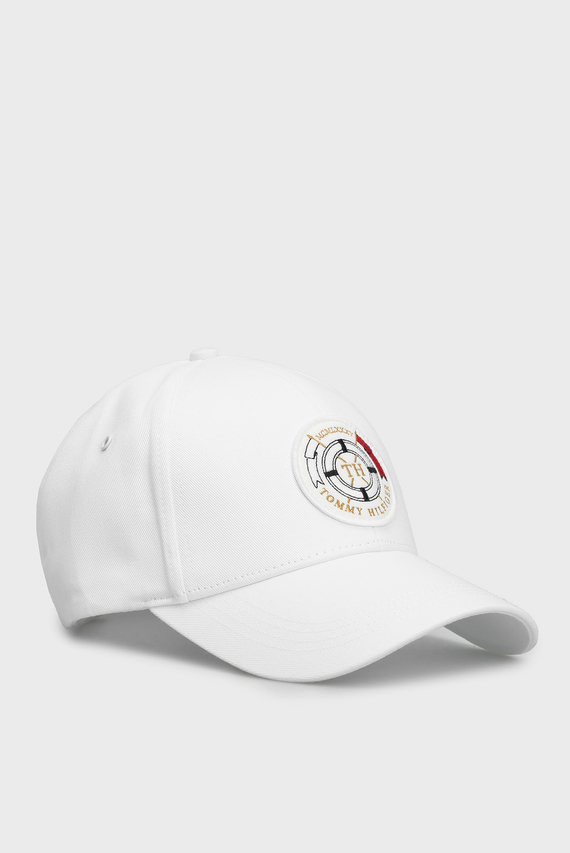 Мужская белая кепка ROUND PATCH