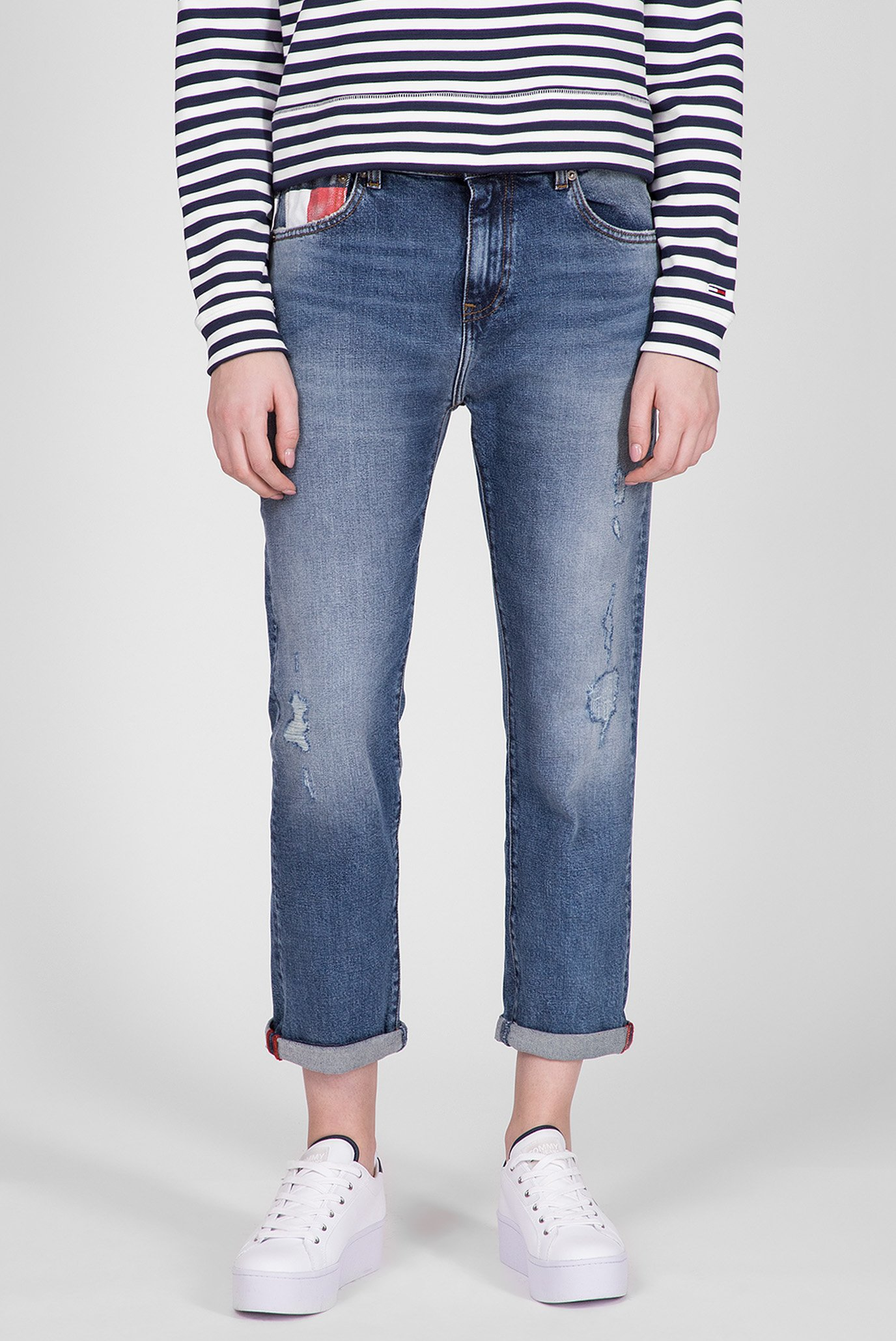 Женские синие джинсы BOYFRIEND 1