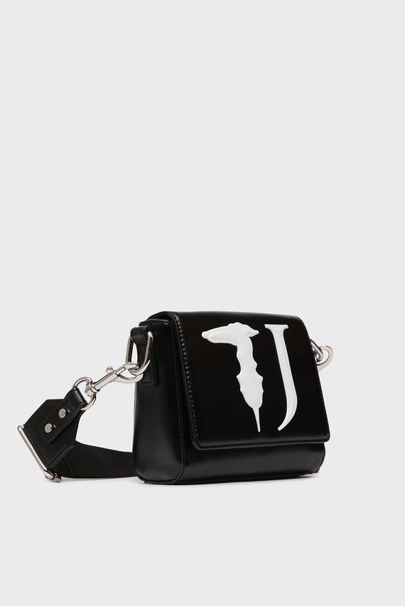 Женская черная сумка через плечо T-EASY