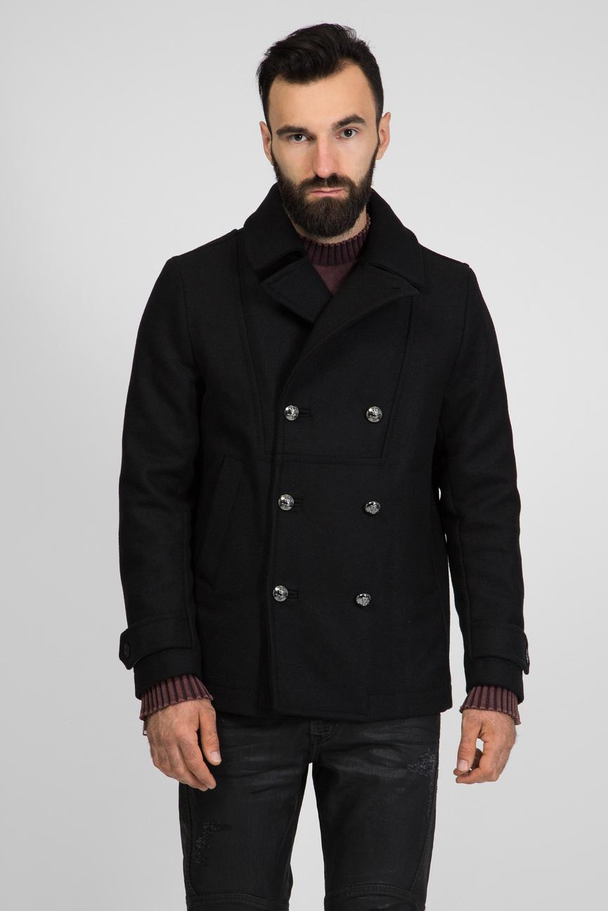 Мужское черное пальто W-BANFI GIACCA