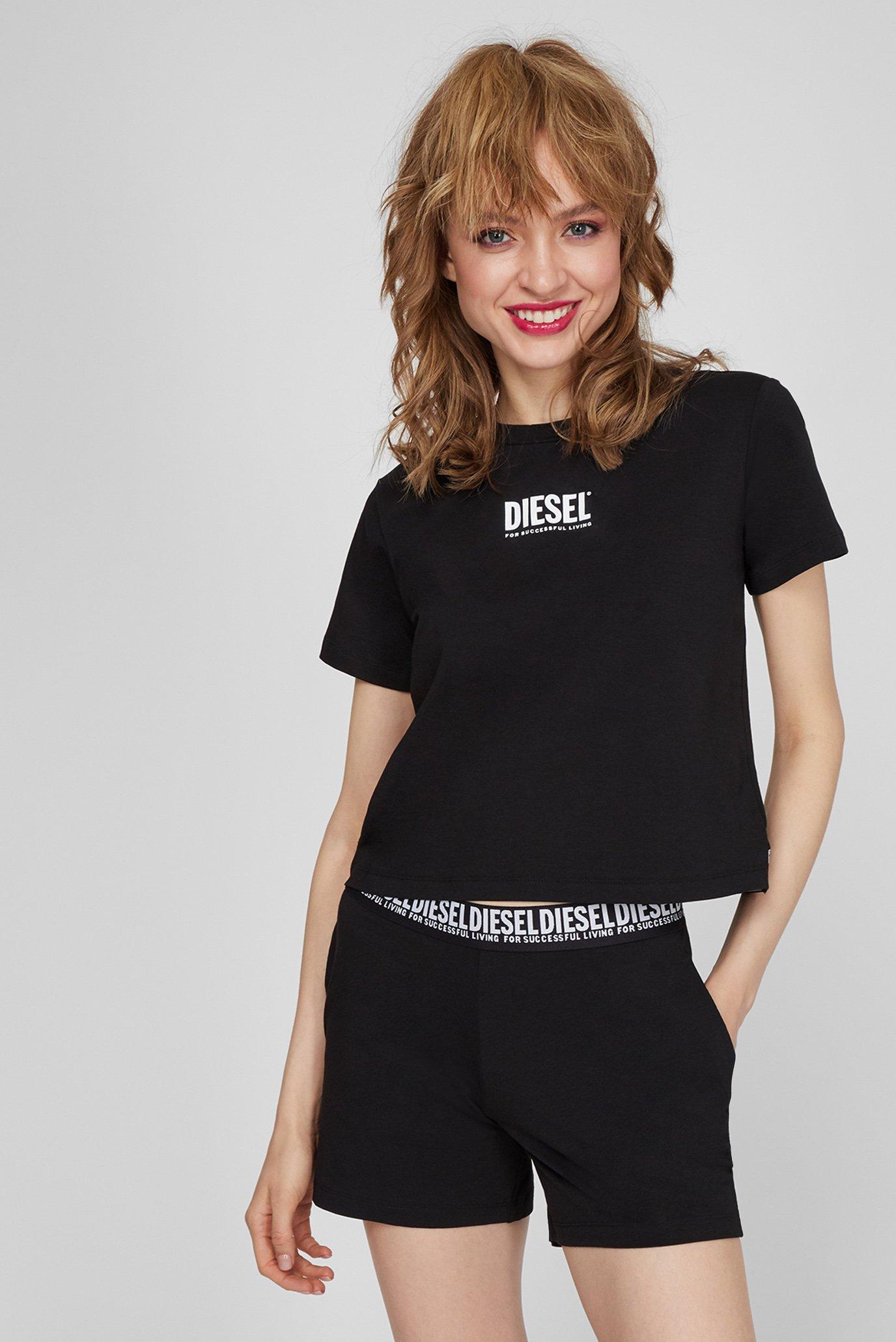 Женская черная пижама (футболка, шорты) UFSET-PIJIMMY 1